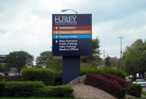 Hurley Medical Center (Photo courtesy of Signs by Crannie)