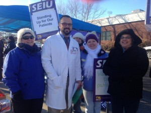 Nurses on strike in Spokane, Washington.