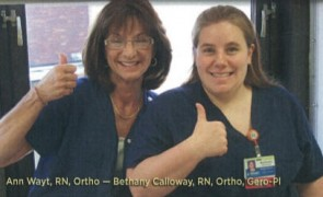 Affinity Medical Center nurses Ann Wayt and Bethany Calloway